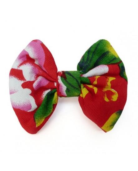 Pince à cheveux, noeud en coton multicolore