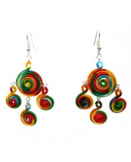 Spirales multicolores (Boucles d'oreilles)