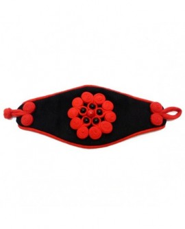Manchette rouge et noire (Bracelet)