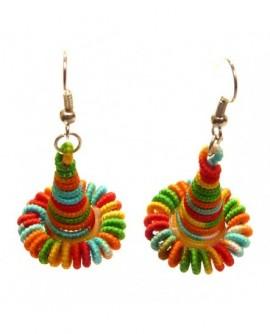 Cône Tourbillon Multicolore (Boucles d'oreilles)