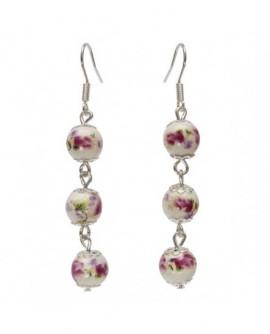 Perles de porcelaine (Boucles d'oreilles)