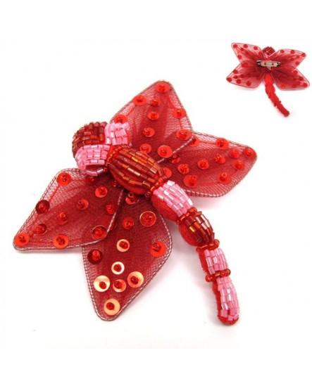 Libelulle rouge (Broche)