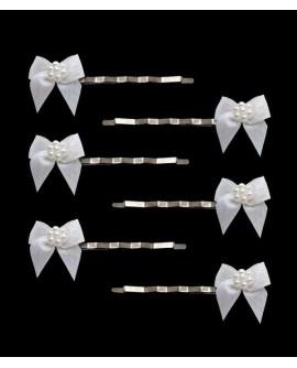 épingles cheveux mariage noeuds blanc