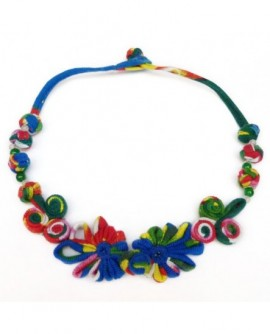 Fantaisie multicolore en coton (Collier)