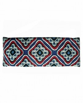 Barrette à cheveux rectangle motif bleu blanc rouge