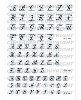 ALPHABET Initiales prénom scolaire Images digitales cabochon ronds