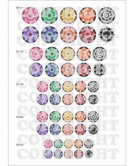images cabochons mandala multicolore