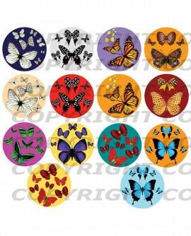 images digitales cabochon papillon