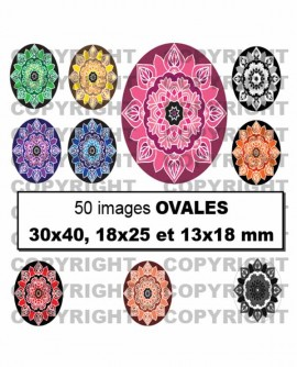 Mandalas Images digitales cabochon