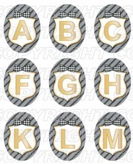 Alphabet initiale prénom masculin Images digitales cabochon Ovales