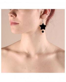boucles d'oreilles étoiles noires