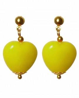 Coeur bonbon kawaii - boucles d'oreilles