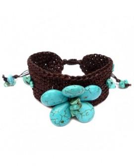 Fleur de pierre et crochet  (Bracelet)