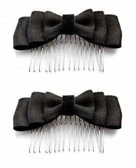 peigne noeud noir chic à la Française - vendu par paire