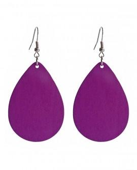 Boucles d'oreilles grandes gouttes violettes