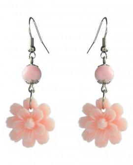 Fleurs rose pastel - boucles d'oreilles légères