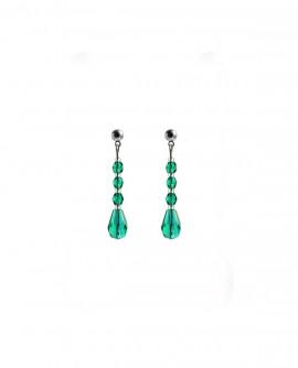 boucles d oreilles gouttes vert émeraude