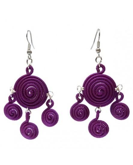 Spirales couleur unie (Boucles d'oreilles)