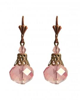 boucles d'oreilles rose classiques en forme de gouttes