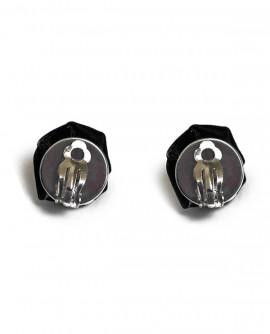 boucles d'oreilles gothique : les roses noires - puces ou clip