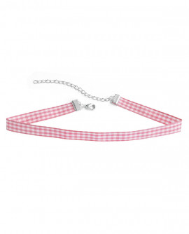 collier vichy rose
