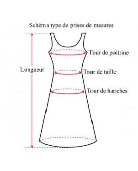 broderies sur maille de coton (robe)
