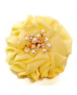 Fleur Froufrou Jaune Clair (Pince à cheveux)