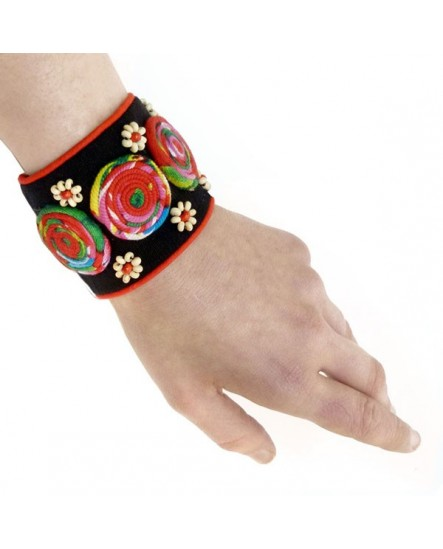 Manchette tourbillons de couleur (Bracelet)