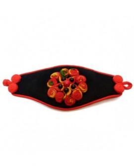 Manchette noir et multicolore (Bracelet)