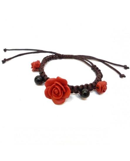Bracelet aux 3 roses Rouges