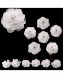 Lot de 6 épingles fleurs Blanches – coiffure de  mariage