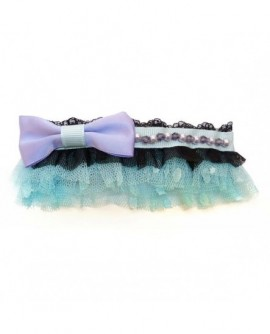 Tulle style tutu Bleu et Noir, et noeud papillon ( Barrette )