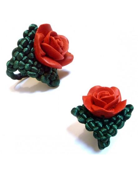 Rose rouge (Bague)
