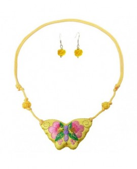 Parure Papillon jaune