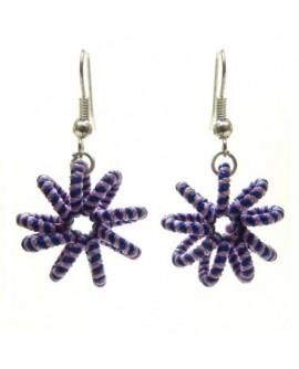 Ressort bleu – violet (Boucles d'oreilles)