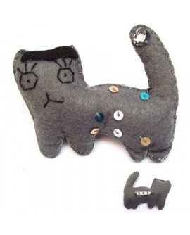 Chat Peluche (Broche)