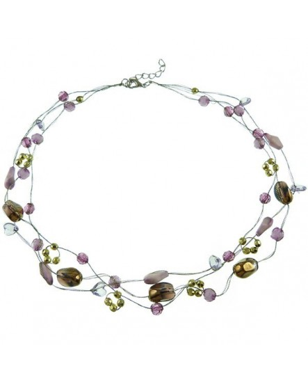 Fantaisie violette ( Collier )