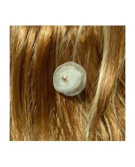 Lot de 6 épingles tourbillon romantique blanc avec perles pour coiffure de mariage